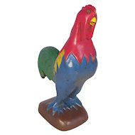 Small Vintage Folk Art Hand Carved & Painted Rooster