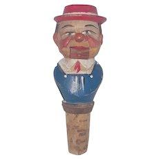 Vintage Comical German Folk Art Articulated Bottle Topper