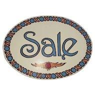 Authentic Folk Art Sun Valley Trade Sign