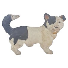 """Vintage  Large 7"""" Hand Carved & Painted Dog From My Collection"""
