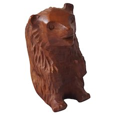Vintage Hand Carved Folk Art Briarwood Bear Pipe