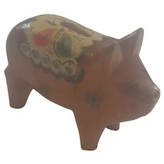 Super Rare Vintage Swedish Folk Art Dala Piggy Bank