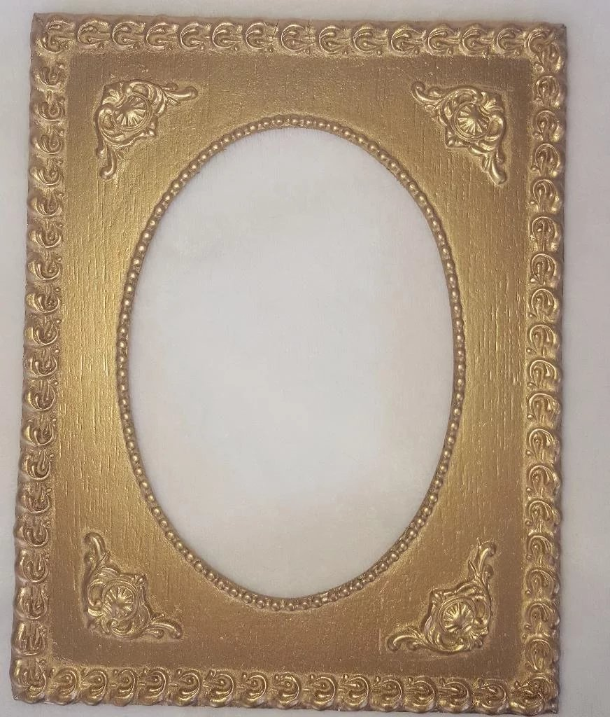 Pair of vintage gold painted frames with oval openings albion pair of vintage gold painted frames with oval openings click to expand jeuxipadfo Images