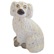 "Antique 10"" Staffordshire Dog Figure"