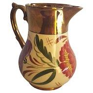 Vintage English Wade Harvest Design Copper Luster Cream Pitcher