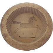 Rare 19th Century Folk Art Running Horse Butter Print Mold  From My Collection