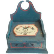 Vintage Painted Folk Art Lidded Wall Box with PA. Dutch Decoration
