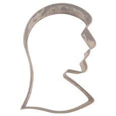 Unusual Vintage PA. Folk Art Tin Male Profile Cookie Cutter