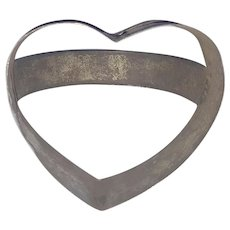 Vintage PA. Folk Art Heart Cookie Cutter