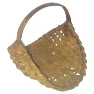 Diminutive Antique Primitive Herb Gathering Basket From My Collection