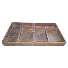 Antique 19th C. Primitive Hand Made Tool Tray
