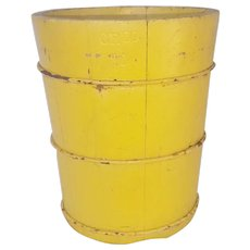 Antique Dry Measure in Yellow Paint