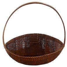 Vintage Southern Folk Art Rare Form 2-Tone Melon Basket