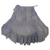 Antique Early 1900's Handmade Homespun Apron