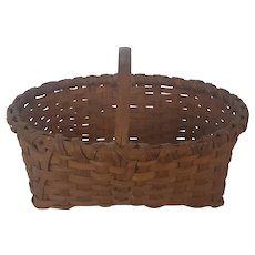 Early 1900's Primitive Folk Art Market or Gathering Basket