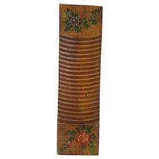Vintage Primitive Folk Art Washboard with Floral Design #2