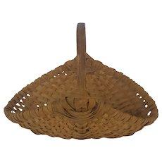 Diminutive Vintage Primitive Folk Art Herb Gathering Basket