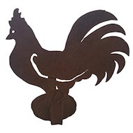 Vintage Primitive Folk Art Hand Wrought Iron Rooster Candle Sconce
