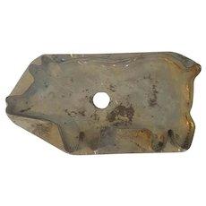 """Large 5 1/2"""" Vintage Primitive PA. Folk Art Tin Flat Back Pig Cookie Cutter"""