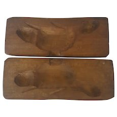 Vintage Primitive Folk Art Beaver Maple Sugar Candy Mold