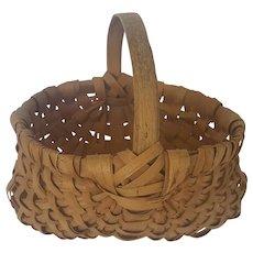 Diminutive Vintage Primitive Folk Art Buttocks Basket
