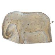 Rare Vintage Folk Art Tin Elephant Cookie Cutter