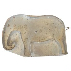 Rare Vintage Folk Art Tin Elephant Cookie Cutter