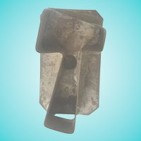 "Antique Early 1900's Large 5"" Primitive Folk Art Tin Ax Hatchet Cookie Cutter"