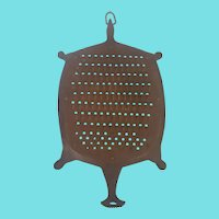 Unusual Vintage Folk Art Turtle Form Grater Trivet
