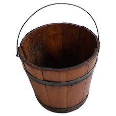 Antique Primitive PA. Wooden Berry Bucket