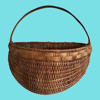 Vintage Shenandoah Valley Folk Art Wall Half Basket