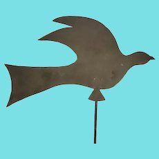 Vintage Midwest Folk Art Dove Weathervane