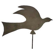 Vintage Midwest Folk Art Dove Weathervane