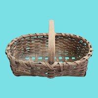 Antique Primitive Folk Art Handmade Market Basket