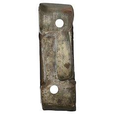 "Unusual Large 10 1/2"" x 3 3/4"" Antique Primitive Tin Double Ax Cookie Cutter"