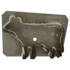 Large Antique Tin Primitive Anatomically Correct Cow Cookie Cutter
