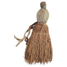 Vintage Crumb/Whisk Broom with Baby Bird Handle