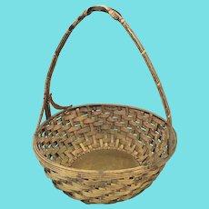 Vintage Miniature Woven Brass Basket