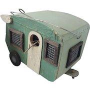 Cute Vintage Primitive Folk Art Birdhouse #4 (Camper)