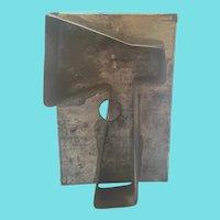 "Vintage Primitive Folk Art Tin Cookie Cutter #32 (Ax 6"" x 4"")"