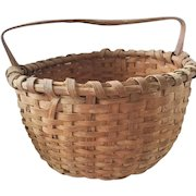 """Vintage Primitive 11 1/2"""" Diameter Round Basket from my Collection"""