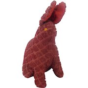 Vintage Folk Art Rabbit Pin Cushion Toy Whimsy From My Collection