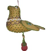 Early 1900's Native American Beaded Bird With Cherries Whimsy From My Collection