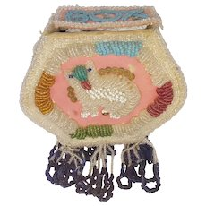 Dated 1908 Native American Beaded Box with Cat Design From My Collection