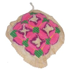 Vintage PA. Amish Folk Art Stumpwork Pin Cushion