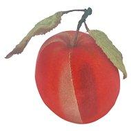Vintage Velveteen Red Apple Pin Cushion