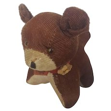 "Cute Vintage Dog Pin Cushion with Tape Measure ""Tongue"""