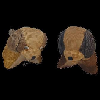 Pair of Vintage Corduroy Dog Pin Cushions