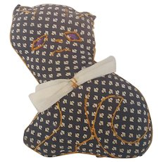 Vintage PA. Folk Art Cat Pin Cushion