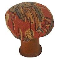 Vintage Lancaster Co., PA Folk Art Mushroom Pin Cushion